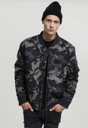 Pánska bombera Urban Classics Vintage Camo Cotton Bomber Jacket dark camo