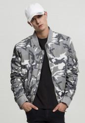 Pánska bombera Urban Classics Vintage Camo Cotton Bomber Jacket snow camo