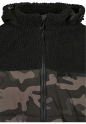 Pánska bunda BRANDIT Jackson Teddyfleece Jacket Farba: black/darkcamo, Grösse: XXL #9