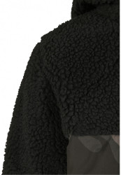 Pánska bunda BRANDIT Jackson Teddyfleece Jacket Farba: black/darkcamo, Grösse: XXL #10
