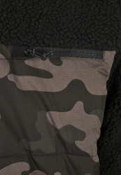 Pánska bunda BRANDIT Jackson Teddyfleece Jacket Farba: black/darkcamo, Grösse: XXL #12