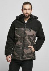 Pánska bunda BRANDIT Jackson Teddyfleece Jacket Farba: black/darkcamo, Grösse: XXL