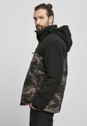 Pánska bunda BRANDIT Jackson Teddyfleece Jacket Farba: black/darkcamo, Grösse: XXL #1