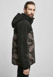 Pánska bunda BRANDIT Jackson Teddyfleece Jacket Farba: black/darkcamo, Grösse: XXL #3