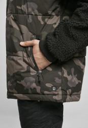 Pánska bunda BRANDIT Jackson Teddyfleece Jacket Farba: black/darkcamo, Grösse: XXL #6