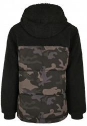 Pánska bunda BRANDIT Jackson Teddyfleece Jacket Farba: black/darkcamo, Grösse: XXL #8