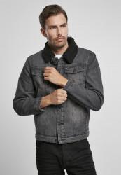 Pánska bunda BRANDIT Sherpa Demin Jacket Farba: black/black, Grösse: XXL