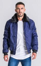 Pánska bunda Gianni Kavanagh Navy Blue Vintage Coat