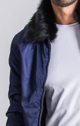 Pánska bunda Gianni Kavanagh Navy Blue Vintage Coat Pohlavie: pánske, Velikost: S #2