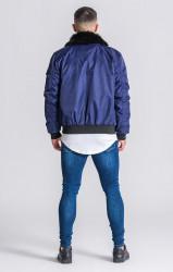 Pánska bunda Gianni Kavanagh Navy Blue Vintage Coat Pohlavie: pánske, Velikost: S #4