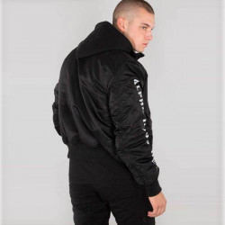 Pánska bunda s kapucňou Alpha Industries MA-1 D-Tec SE Jacket Black #2