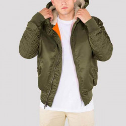 Pánska bunda s kapucňou Alpha Industries MA-1 Hooded Jacket Dark Green