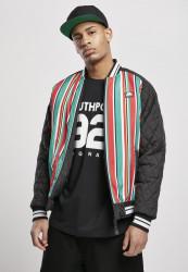 Pánska bunda Southpole Stripe College Jacket Farba: multicolor, Grösse: XXL