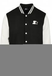 Pánska bunda Starter College Jacket Farba: black/white,