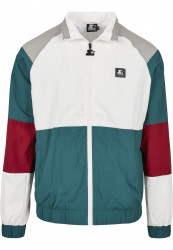 Pánska bunda Starter Color Block Retro Farba: retro grn/wht/brick rd/gry, Grösse: XXL