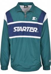 Pánska bunda Starter Half Zip Retro Farba: retro green/blue night/white, Grösse: XXL