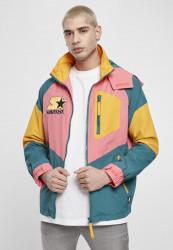 Pánska bunda Starter Multicolored Logo Jacket Farba: green/yellow/pink,