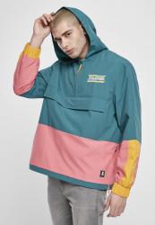 Pánska bunda Starter Multicolored Logo Windbreaker Farba: green/yellow/pink,