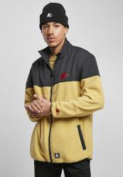 Pánska bunda Starter Polarfleece Jacket Farba: goldensand/stategrey,