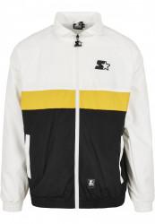 Pánska bunda Starter Three Toned Jogging Farba: white/black/golden, Grösse: XXL
