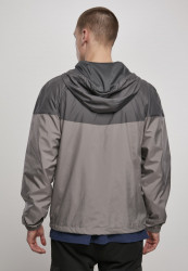 Pánska bunda URBAN CLASSICS 2-Tone Tech Windrunner darkshadow/asphalt #2