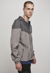 Pánska bunda URBAN CLASSICS 2-Tone Tech Windrunner darkshadow/asphalt #3