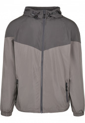 Pánska bunda URBAN CLASSICS 2-Tone Tech Windrunner darkshadow/asphalt #5