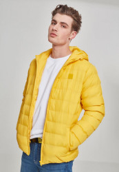 Pánska zimná bunda Urban Classics Basic Bubble Jacket chrome yellow