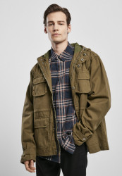 Pánska bunda Urban Classics Cotton Field Jacket olive