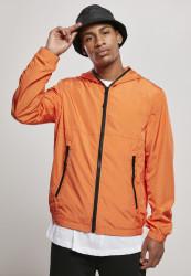 Pánska bunda Urban Classics Full Zip Nylon Crepe mandarin