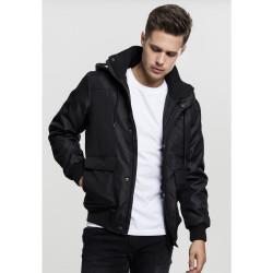 Pánska bunda Urban Classics Heavy Hooded Black
