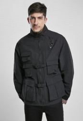 Pánska bunda Urban Classics Multi Pocket Nylon Jacket black