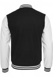 Pánska bunda URBAN CLASSICS Oldschool College Jacket blk/wht #5