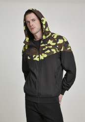 Pánska Bunda Urban Classics Pattern Arrow Windrunner black/frozenyellow camo