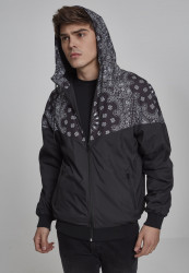 Pánska Bunda Urban Classics Pattern Arrow Windrunner blk/blackbandana