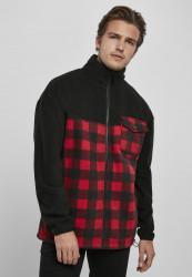 Pánska bunda Urban Classics Patterned Polar Fleece Track Jacket