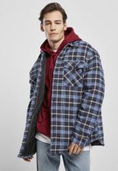 Pánska bunda Urban Classics Plaid Quilted Shirt Jacket