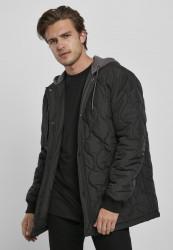 Pánska bunda Urban Classics Quilted Hooded Jacket black