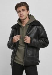 Pánska bunda Urban Classics Shearling Jacket black Velikost: S, Objem: pánske