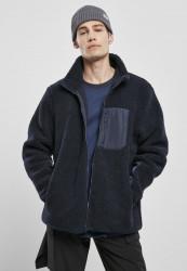 Pánska bunda Urban Classics Sherpa Jacket midnightnavy