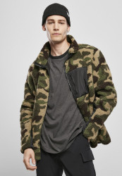 Pánska bunda Urban Classics Sherpa Jacket wood camo
