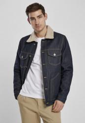 Pánska bunda Urban Classics Sherpa Lined Jeans Jacket rinsed