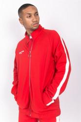 Pánska červená mikina na zips Sixth June Logo Farba: Červená,