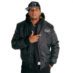 Pánska čierna bombera Cocaine Life Basic Bomber Jacket Size: 2XL