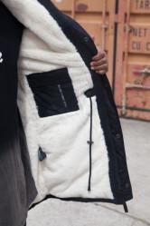 Pánska čierna bunda na zimu Sixth June Big Fur Parka #2