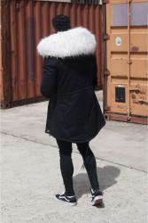 Pánska čierna bunda na zimu Sixth June Big Fur Parka #3