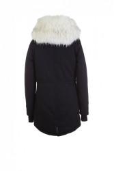 Pánska čierna bunda na zimu Sixth June Big Fur Parka #5