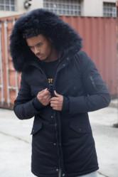 Pánska čierna bunda na zimu Sixth June Lining Fur Parka