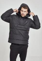 Pánska čierna bunda Urban Classics Pull Over Puffer Jacket black