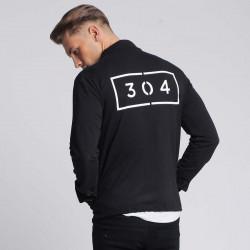 Pánska čierna košeľa s dlhým rukávom 304 Clothing Farba: Čierna, #1